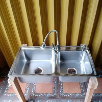 paket hemat kitchen sink GS 8344 kran flexible soligen handsoap