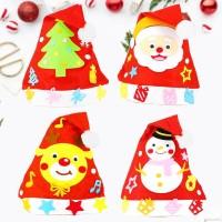 BBWORLD Set Topi Santa Claus Anak/Dewasa Motif Campur untuk