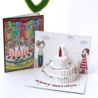 Kartu Ucapan Pop Up 3D Handmade untuk Ulang Tahun