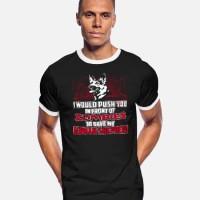 Kaos German Shepherd dog - Push you in front of Zombies T-Shirt