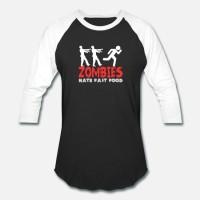Kaos Zombies hate fast food T-Shirt