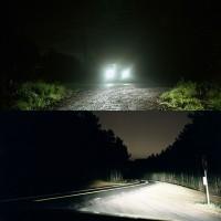 2Pcs Lampu Depan Mobil C6 LED COB H4 36W 7600LM Warna Putih