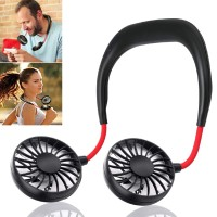 Fan Hand Free Portable Small Personal Mini USB Charge Neck 3 Speed