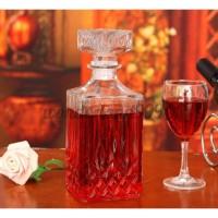 WL 800ml Vintage Decanter Glass Liquor Whiskey Crystal Bottle Wine