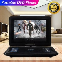 13.9 '' Portabel HD TV DVD Player Layar LCD 270 ° Putar 240V +