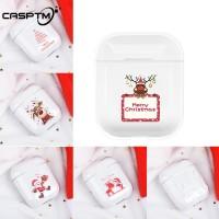 Hard Case PC Bening Motif Santa Claus untuk Apple airpods 2nd