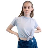 Baju Olahraga, Fitflo Activewear, Tencel, Ivelle Crop Top Biru