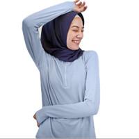 Baju Olahraga Panjang, Fitflo Activewear, Tencel, Amara Top Biru