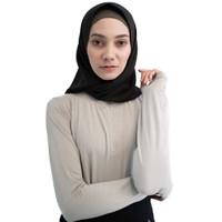 Baju Olahraga Panjang, Fitflo Activewear, Tencel, Amara Top Abu-Abu