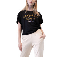 Baju Olahraga, Fitflo Activewear, Tencel, What We Save T-Shirt Hitam