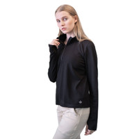 Baju Olahraga Panjang, Fitflo Activewear, Tencel Organic, Amara Hitam
