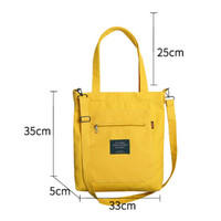 Tas Tote Bag Fashion Korea Kanvas Tebal / Tas Selempang - Kuning