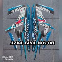 striping stiker Suzuki Satria F 150 biru putih 2014