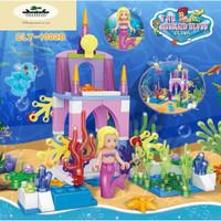 Mainan Lego Murah Set 4 (Mermaid atau Putri Duyung) - Putih