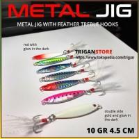 Umpan Pancing Metal Jig Fishing Lure Jigging Bait 10 gram