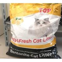 Top Cat Litter Lemon Bentonite (Pasir Kucing Gumpal) 10 liter