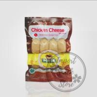 Sosis Ayam Keju SONIA Frozen - Chicken Cheese 200gr - isi 8 pcs