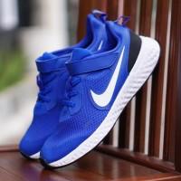 ORIGINAL Nike Sepatu Anak Kids Kid Laki-laki Slip On Velcro Biru BNWB