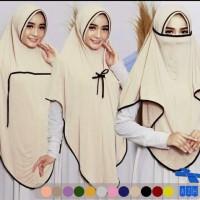 PROMO!! Hijab Jilbab Instan Niqab Cadar Fatimah List Bis Murah Terbaru