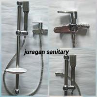 Paket shower + Tiang Shower + Kran Cabang MURAH MERIAH