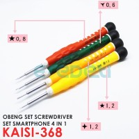 KAISI 368 4 IN 1 TOOLS OBENG SET IPHONE DAN SMARTPHONE KD-003347