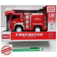Toys City Service Firefighter Friction Powered Fire Engine Rescue Pump