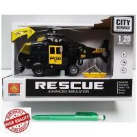 Pretend Toys City Service Rescue Advanced Simulation Helicopter Black