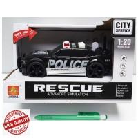 Pretend Toys City Service Rescue Advanced Simulation Police Car Black
