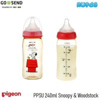 Pigeon PPSU 240ml Snoopy and Woodstock SofTouch Bottle Botol Susu