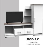 meja rak tv minimalis putih murah