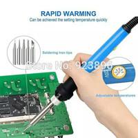Solder listrik bisa set temperature 5 mata-soldering iron 5 in 1 PCB
