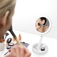 Cermin LED Foldable Kaca Rias Make Up