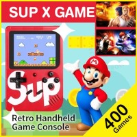 SUP Game Box Retro 400 Games SNES Gameboy Nintendo Gamebot Lama FC - Merah