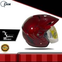 Helm Motor Jp-5 Red maroon gloss
