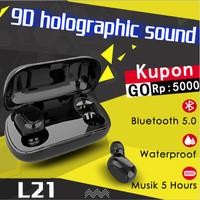 L21Headset bluetoothBluetooth 5.0 Earphone gerakan