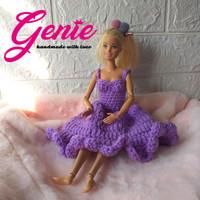 Baju boneka barbie gown