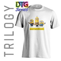 Kaos Premium - Minions - TRILOGY DTG 0217 - MOVIE CARTOON - Putih, S