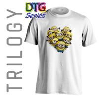Kaos Premium - Minions - TRILOGY DTG 0218 - MOVIE CARTOON - Putih, S