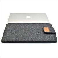 Tas Felt Button Sleeve Case 11 inch Laptop Macbook Ultrabook 10 11.6