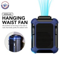 Mini Hanging Waist Fan / Kipas Angin Portable Power Bank Quick Charge - Hijau