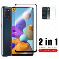 Tempered Glass SAMSUNG A21s Screen Protector Free Tempered Kamera