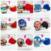 Topi ANAK karakter souvenir ulang tahun / merchandise pesta ultah unik