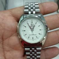 jam tangan meteor quartz dial putih classic