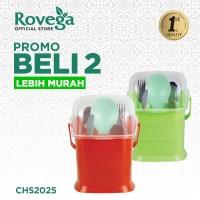 2in1 Rovega Small Spoony Tempat Sendok Premium Food Grade (MERAH)