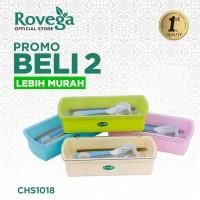 2in1 Rovega Kotak Sendok Premium Cutlery Box CHS-1018 (Food Grade)