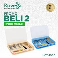 2in1 Rovega Tempat Sendok Premium Cutlery Set HCT-1000 (Food Grade)