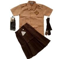 Seragam Pramuka SD Baju Pendek Rok Pendek Lengkap