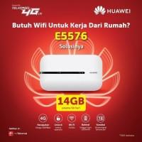 Mifi Modem Wifi 4G Huawei E5573 Free Telkomsel 14GB - Hitam