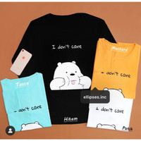 ELLIPSES.INC Tumblr Tee /Shirt /Kaos Wanita Lengan Panjang I DONT CARE