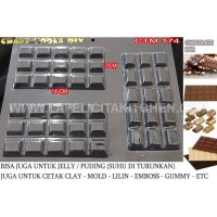 CTM174 CHOCOLATE BAR PERS CETAKAN COKLAT MIKA SNACK MIX CHEF CHOCOLATE